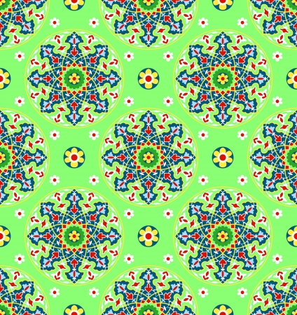 middle eastern: traditional Islamic Pattern on white