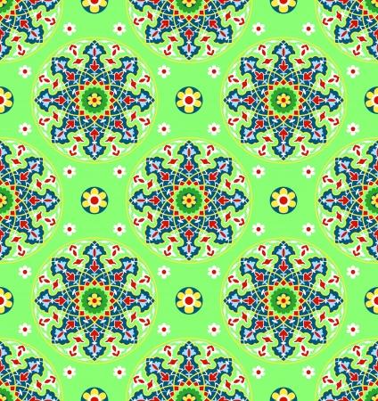 moorish: traditional Islamic Pattern on white