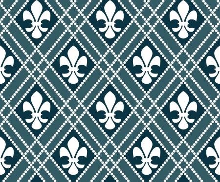 fleur de lis seamless pattern Vector