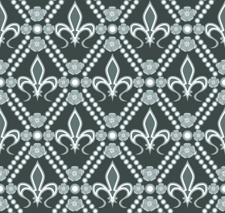lys: fleur de lis seamless pattern Illustration