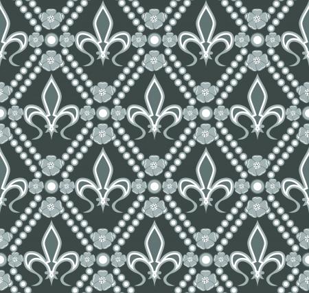 lys: fleur de lis seamless pattern Illustration