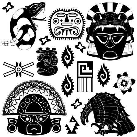 ancient American pattern on white Stock Vector - 17552929