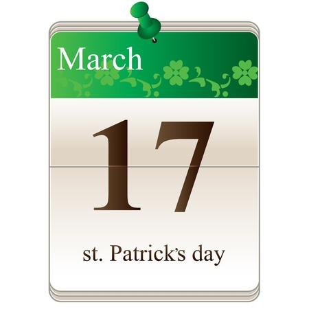 Vector of St Patricks Day Calendar for irish holiday Stock Vector - 17693590