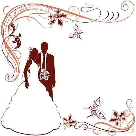Hochzeitskarte Einladung auf weißem Standard-Bild - 18915576