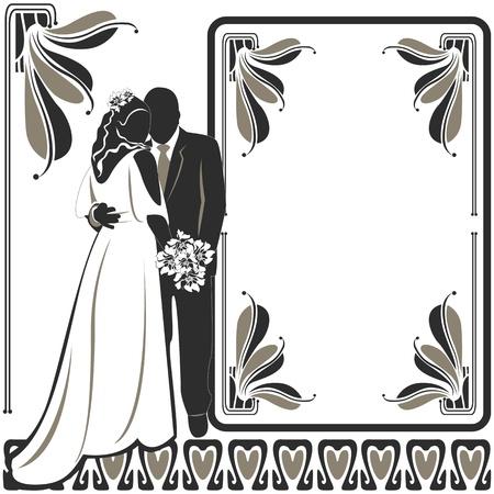 Vector de la invitaci?n de la boda tarjeta en blanco