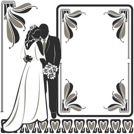 Vector of Wedding card invitation on white Vector