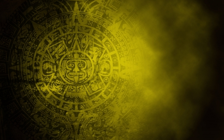 Background in American Indian Style with Mayan calendar on old stone texture