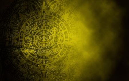 Fond dans le style indien avec le calendrier maya sur la vieille texture de pierre