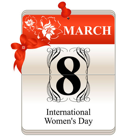 womens day: Vector of the date International Women