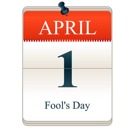 Vector Calendar of Fools dag, 1 april