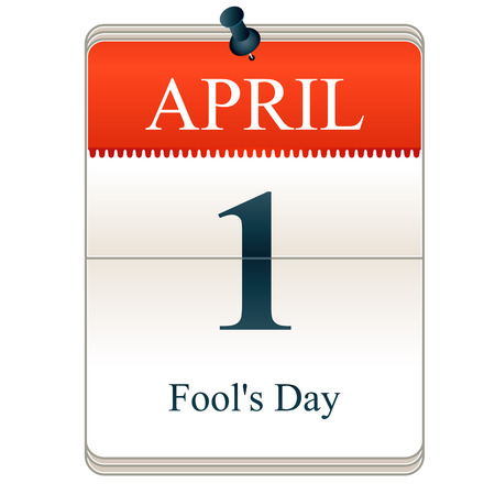 Vector Calendar of Fools day, 1st April