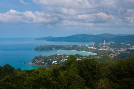 kata: Karon viewpoint of three beaches: Karon, Kata an Kata Noi of the island of Phuket, Thailand