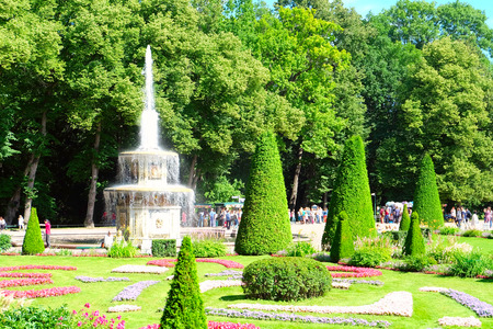 Roman Fountain in Peterhof (Petrodvorets), St Petersburg. Russia