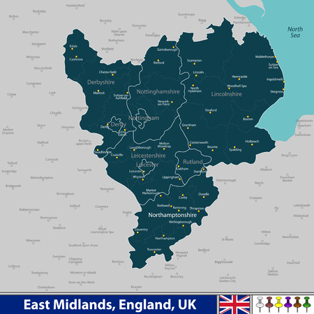 Map Of England Lincolnshire.60 Lincolnshire Stock Illustrations Cliparts And Royalty Free