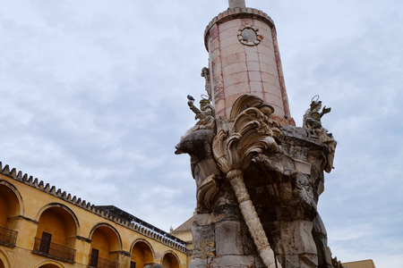 Monument to the archangel Raphael, Cordoba city, Andalusia region, Spain