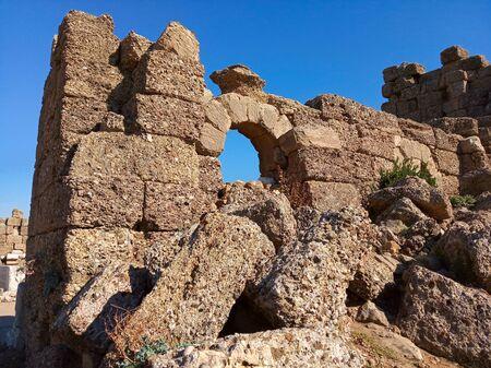 Photo of ancient ruins of Side city, Turkey Zdjęcie Seryjne