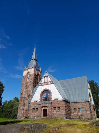 Photo of old finnish Lutheran church, Russian Federation