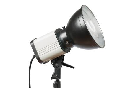 Studio lighting isolated on white photo