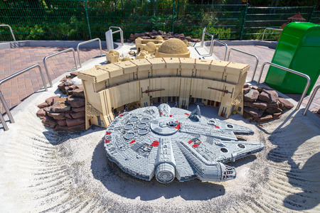 episode: GUNZBURG GERMANY  AUGUST 27 2012  Legoland Gunzburg. Star Wars Episode at Legoland made from lego blocks Editorial