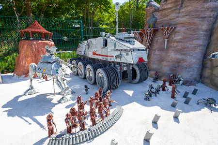 episode: GUNZBURG GERMANY  AUGUST 27 2012  Legoland Gunzburg. Star Wars Episode at Legoland made from lego blocks Editorial