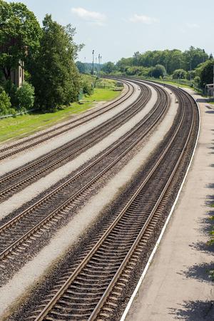 railway tracks: Multiple railway tracks