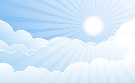 Sky with clouds vector Vector
