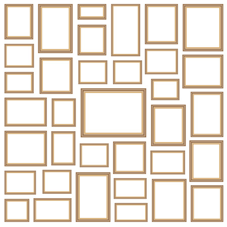 Picture photo frames vector Illustration