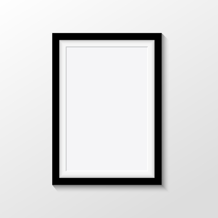 photo of pattern: Vector picture frames on white background Illustration