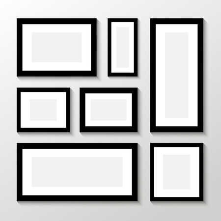 Vector picture frames on white background Иллюстрация