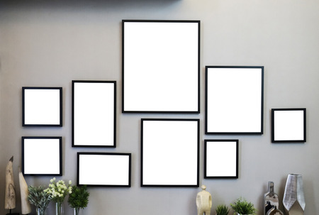 painted image: Frames on the wall