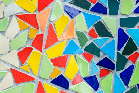 trencadis: Background of color mosaic Stock Photo