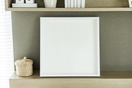 Frame op de muur Stockfoto