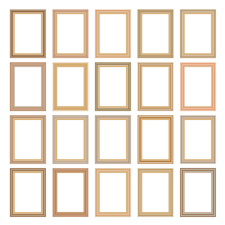 wood frame: Picture photo frames vector Illustration