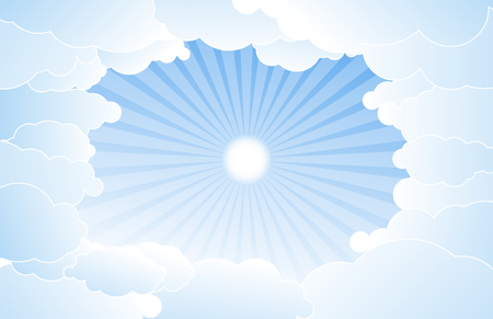 high beams: Sky with clouds vector