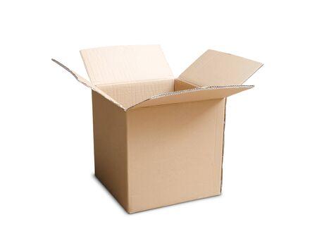 shipped: cardboard box isolated on white background