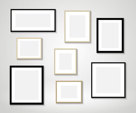 Vecteur cadres photos sur le mur Banque d'images - 50154454