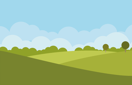 landscapes: green landscape vector