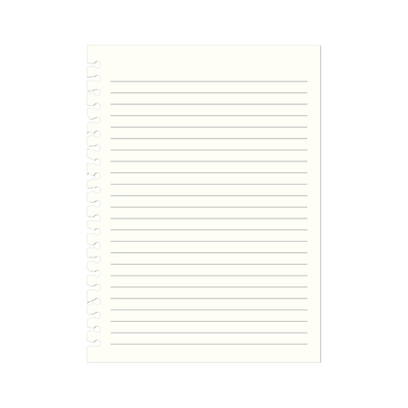 notebook paper: Notebook paper with lines, vector Illustration