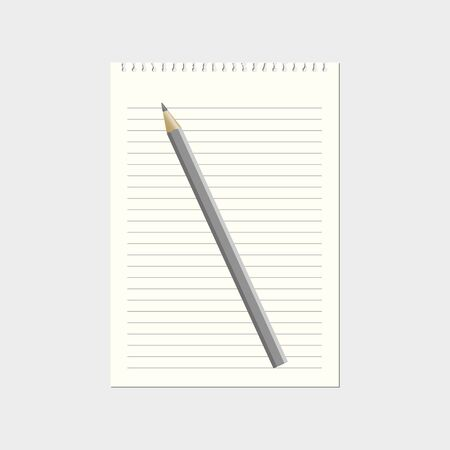 lined paper: Lined paper with pencil vector