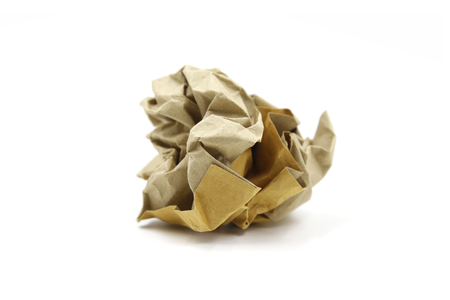 Paper ball isolated on white background Stock Photo