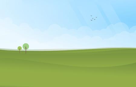 Green landscape image