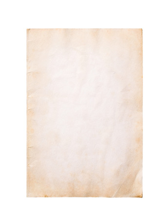 Old paper texture on white background