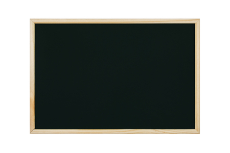 empty black chalkboard on white background