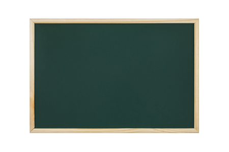 empty green chalkboard on white background