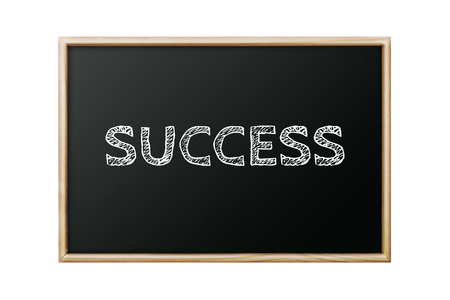 success word written black chalkboard on white background
