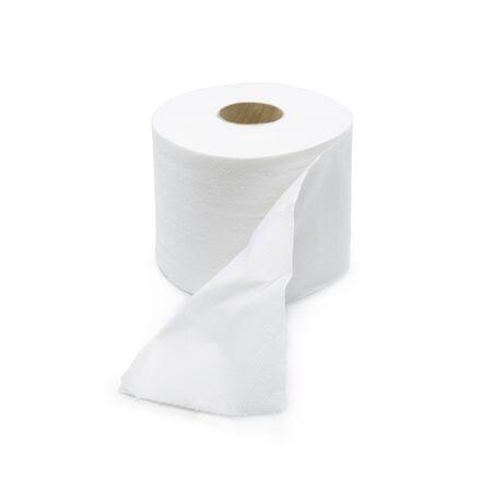 white tissue roll on white background Archivio Fotografico
