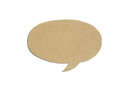 Brown Paper in bubble talk on white background