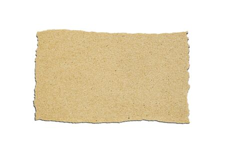 Brown Paper in rectangle shape on white background