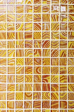 Orange Mosaic Wall, abstract background Banque d'images