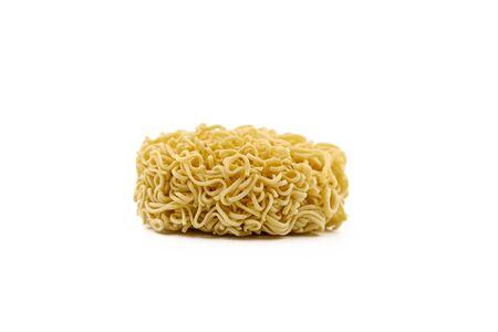 Instant noodle on white background Banque d'images